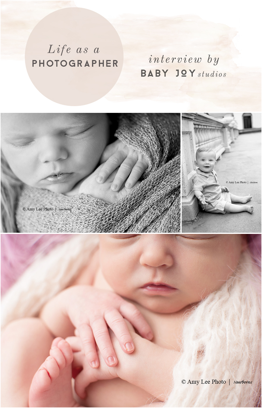 Photographer Interview with Amy Lee Photo | Hosted by  Baby Joy Studios | Photo Props