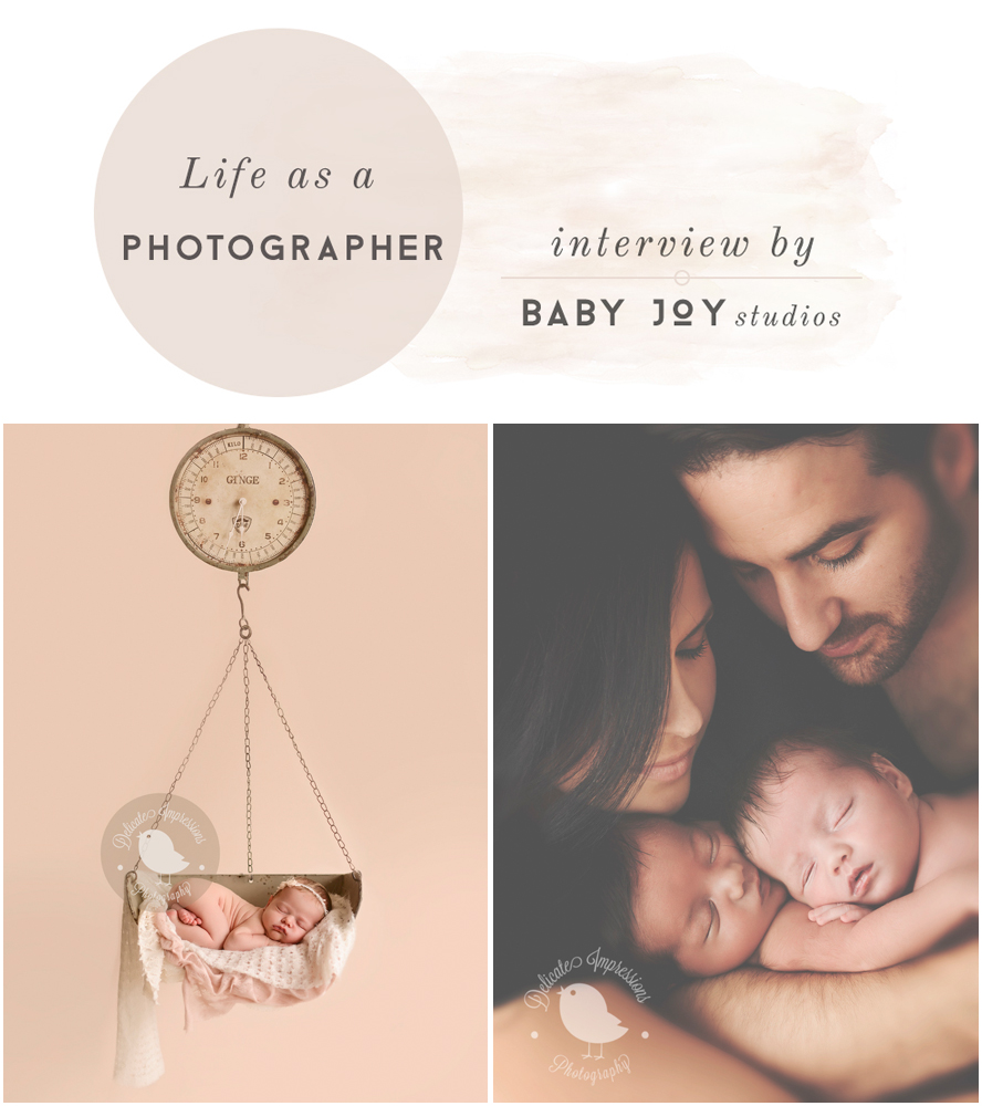 Photographer Interview with Delicate Impressions | Hosted by  Baby Joy Studios Photo props