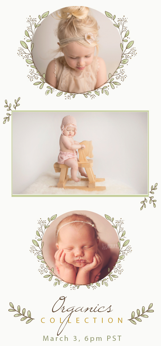 The organics collection newborn photography props for Mad mimi templates