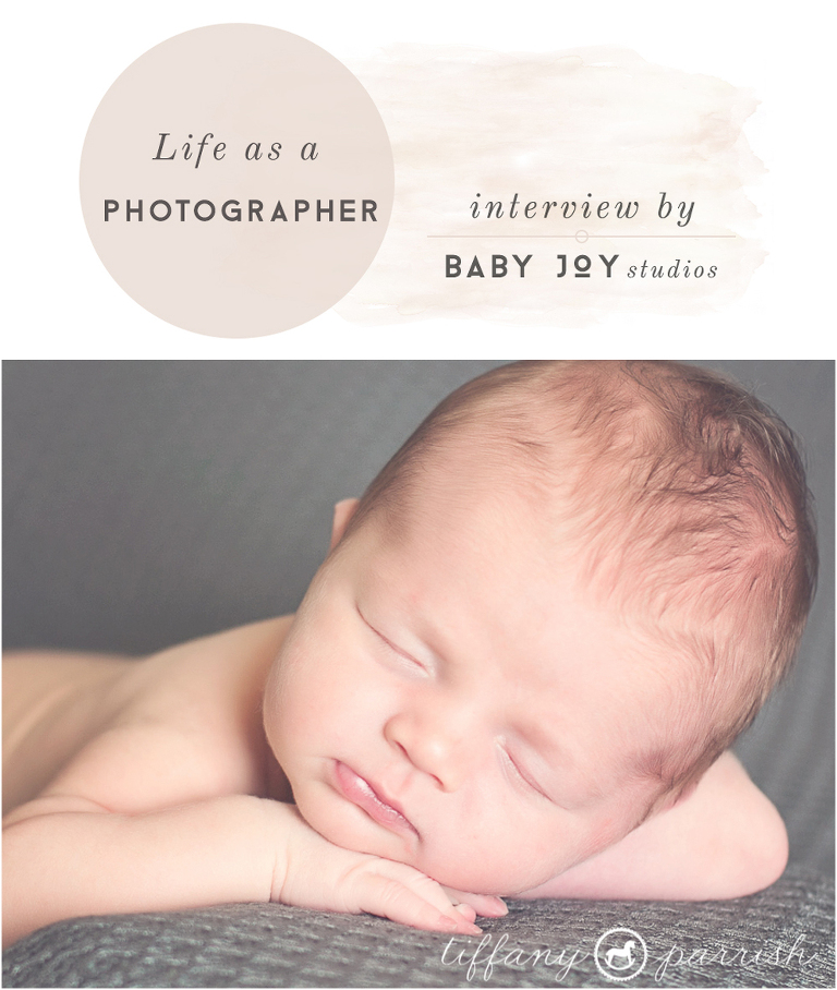 Photographer Interview with Tiffany Parish Photography |  Baby Joy Studios Blog for Photographers | Newborn photography props
